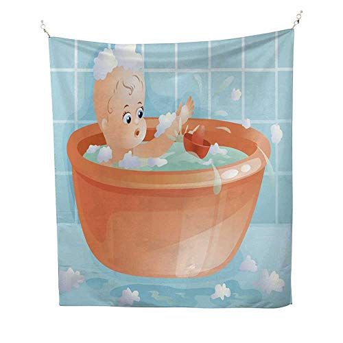 25 Home Decor Tapestries Baby in The Bath dope Tapestries 60W x 91L INCH