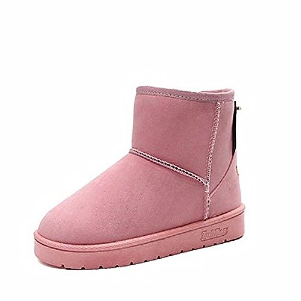 Stivali Nero Cn39 Boots Uk6 Snow Grigio Winter Party Piatto Sera Arrossendo Punta Tacco Tonda Per amp; Eu39 us8 Casual Donna Zhudj Rosa Scarpe rosa