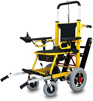 Fabio - Silla de ruedas con salvaescaleras, para personas mayores, para casas y escaleras estrechas