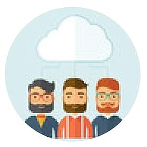 alfombrilla de ratón Los hombres de negocios bajo la nube. - ronda - 20cm