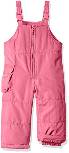 - London Fog Girls' Big Classic Snow Bib Ski Snowsuit, New Pink, 14/16