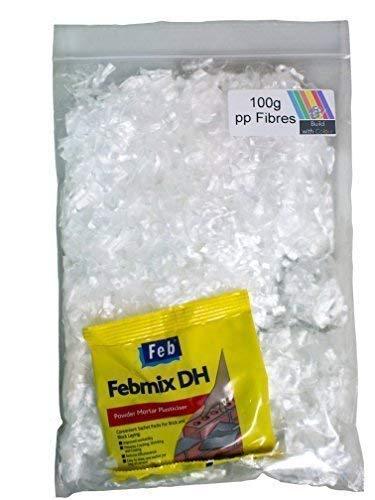 PP Concrete /& Screed Fibres 900G bag of 6-12-18mm polypropylene fibres