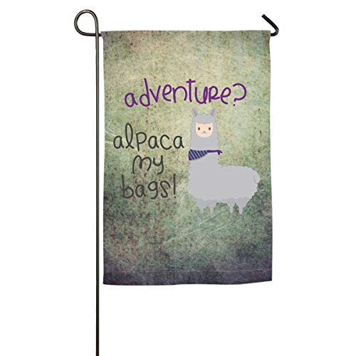 House Flag Alpaca My Bags Durable Translucent Polyester Service Flag Outdoor ()