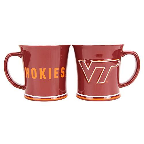 Boelter NCAA Collegiate 15oz Full Color Sculpted Coffee Mug 2-Pack (Virginia Tech Hokies)
