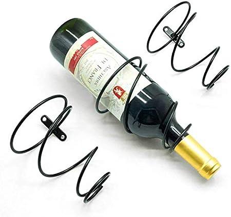 ★ 【Estante de vino único】: El estante de vino está diseñado con un colgante de hierro, lo que puede