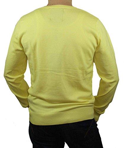 Jack & Jones Herren Pullover V-Neck Premium Gelb