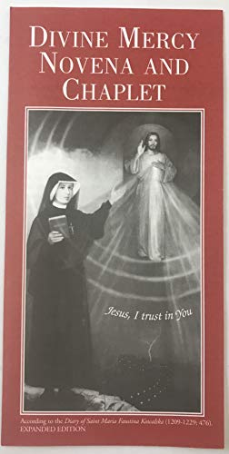 Divine Mercy Novena and Chaplet Pamphlet Catholic Gift Booklet, Pack of 5 ()