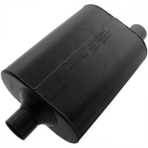 - Flowmaster 952447 Super 40 Muffler - 2.25 Center IN / 2.25 Offset OUT - Aggressive Sound