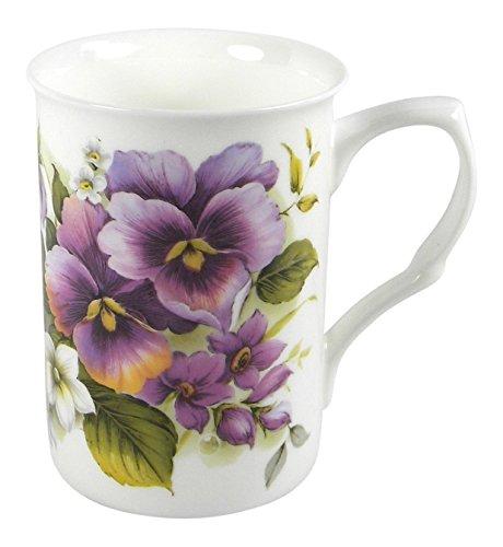 Adderley Pansy Flower Tea or Coffee Mug Fine Bone China England