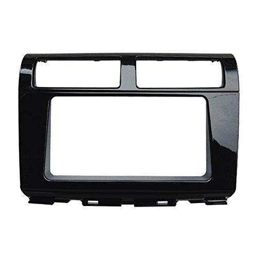 FEELDO 2Din Car CD DVD Radio Stereo Frame Panel Refitting Frame Dash Fascia Kits For Proton Myvi 2012 (Matte Black, C:178102mm)