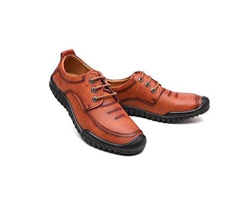 Brown Estaciones De Red Hombres Ocio Cuatro Negocios Juventud Zapatos Cuero Azdw4qf