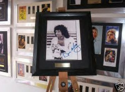 Brian May/Queen Framed Autograph photo Music memorabilia DGM