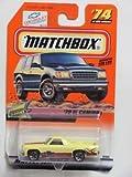 Matchbox Yellow 70 El Camino Diecast Vehicle