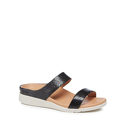 Strive Womens Black Leather 'Faro' Sandals KMONw