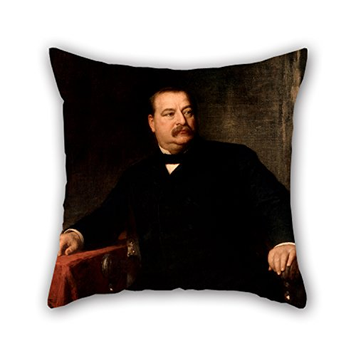 [Artistdecor 20 X 20 Inches / 50 By 50 Cm Oil Painting Eastman Johnson - Grover Cleveland Throw Pillow Covers ,double Sides Ornament And Gift To Husband,birthday,teens] (Leo Johnson Costume)