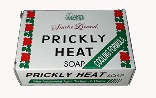 (Pack of 2) St.Lukes Snake Brand : Prickly Heat Soap 100g (3.5 Oz) : Cooling Formula , Original Type by St.Lukes Snake Brand