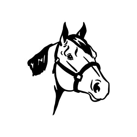 Amazon Com Quarter Horse Black Vinyl Window Decal Sticker Automotive