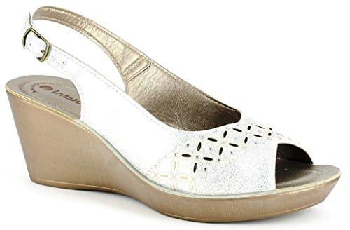 Inblu Blanc EU 39 Femme pour Chaussons Bianco qqx0zP4
