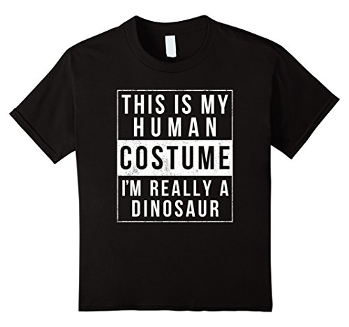 Kids Dinosaur Halloween Costume Shirt Funny Easy for Kids Adults 6 Black