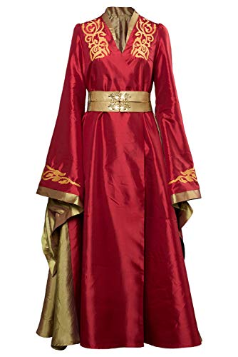 Women's Cosplay Costume Game of Thrones Cersei Lannister Dress Outfit Full Suit Uniform Red (Female:XXX-Large, Red)