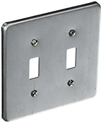 Business & Industrial Other Building Materials NEW 4 Square Finished Industrial Electrical Box Cover 2 Toggle Switch