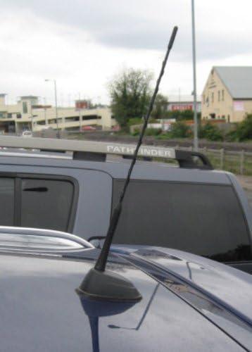 color negro Antena AM//FM de repuesto atornillable con pegatina