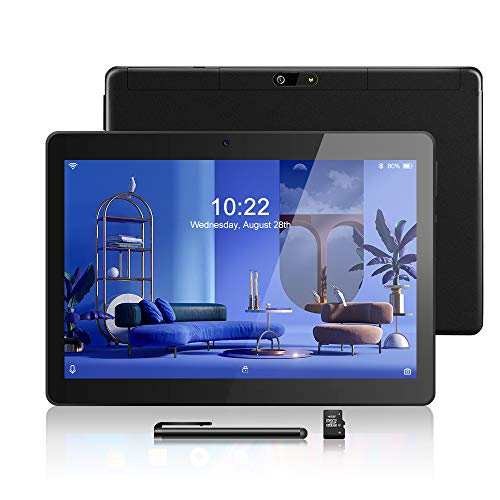 Android Tablet 10,1 Zoll, Android 8.1, Quad Core CPU, Dual SIM Card, 2GB+64GB, IPS HD (1280 x 800), 3G Tablet Pad mit…