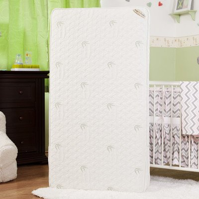 """Natural I Two in One 5.75"""" Crib Mattress with Coconut Fiber, Organic Cotton Layer & Blended Viscose Bamboo Quilted Cover"""