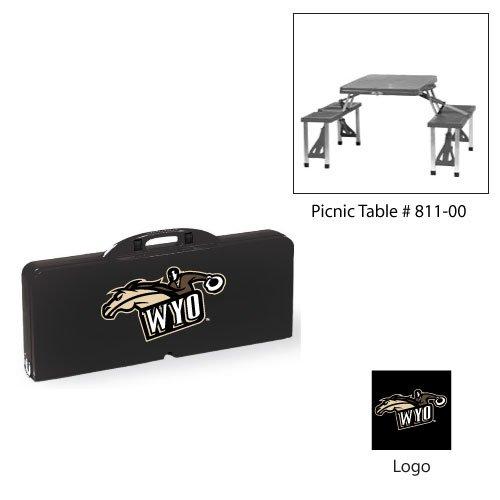 NCAA University of Wyoming Cowboys Digital Print Picnic Table Sport, One Size, Black ()