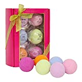 Bath Bombs Gift Set, Body & Earth 6 x 4.2 oz Large Bath Bombs Infused with Shea Butter and Sea Salt, Best Gift for Women