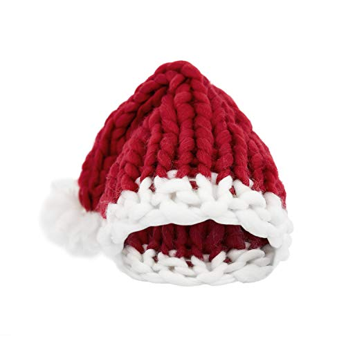 Elezay Christmas Warm Chunky Slouchy Knit Beanie Santa Hat -
