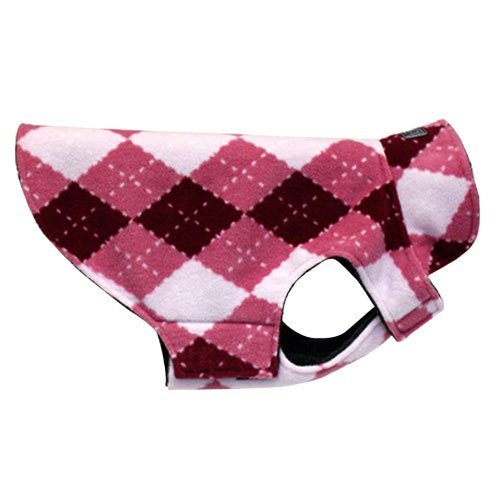RC Pet Products Whistler Winter Wear Dog Coat, Size 16, Pink Argyle, My Pet Supplies