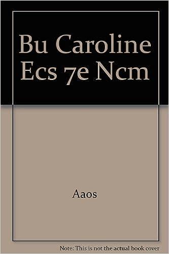 Aaos - Bu Caroline Ecs 7e Ncm