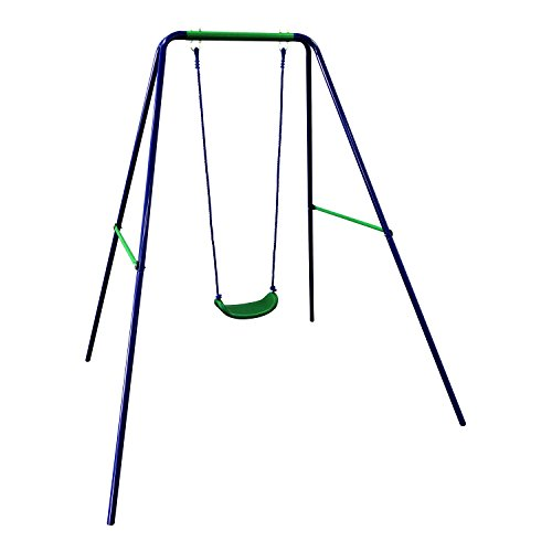 ALEKO BSW01 Child Baby Toddler Outdoor Swing Playground Accessory Blue and Green