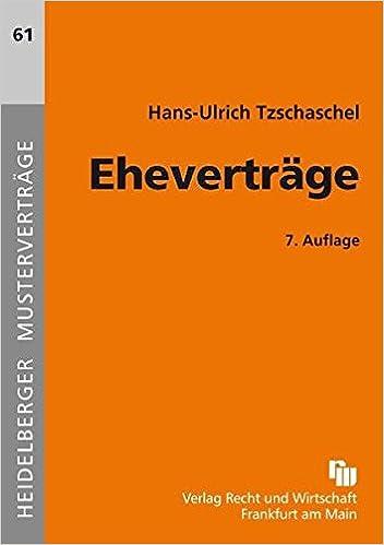 Eheverträge Heidelberger Musterverträge Amazonde Hans Ulrich