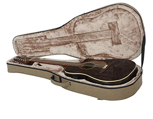 Gator Cases Transit Series Lightweight Polyfoam Dreadnaught Style Acoustic Guitar Case (GTR-DREAD12-TAN)