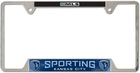 SOCCER Metal License Plate Frame
