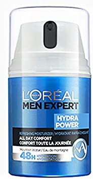 L'Oreal Men Expert Face Moisturizer with Hyaluronic Acid, 48 Hour Moisturizing Gel + Prevents Moisture Los
