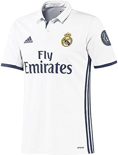 adidas Real Madrid H JSY Y LS - Camiseta 1ª Equipación del Real Madrid CF 2015/16 Niños: Amazon.es: Ropa y accesorios