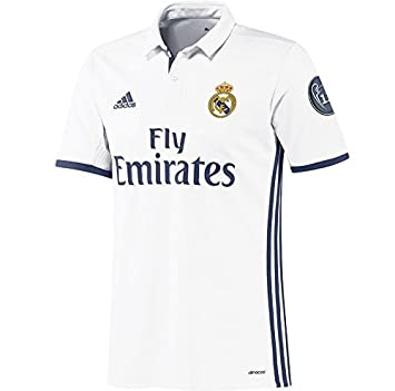 e12b7d79c44 adidas Boy s Real Madrid H Jsy Y Uc 1st Football Kit T-Shirt ...