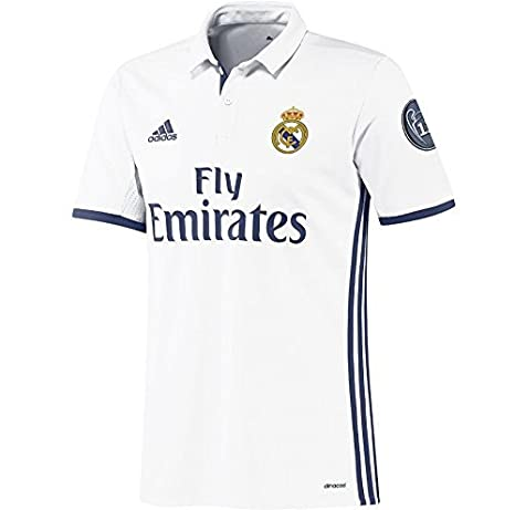 new concept d7c70 1c75f Amazon.com : adidas 2016-2017 Real Madrid Home Long Sleeve ...