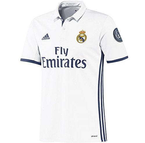 fd3d102d4fb Amazon.com   adidas 2016-2017 Real Madrid Home Long Sleeve Shirt (Kids)    Sports   Outdoors
