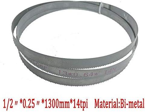 1pc Metalworking 51.2x 1//2 X 0.25 Or 1300 13 without SFE-mggj 14tpi Bimetal M42 Metal Bandsaw Blades For European Band Saws 0.65