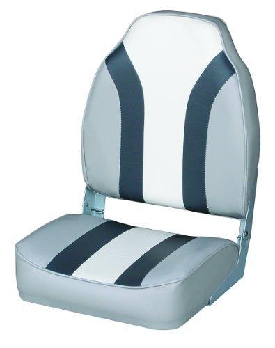 Wise Classic Stripe High Back Boat Seat, ()