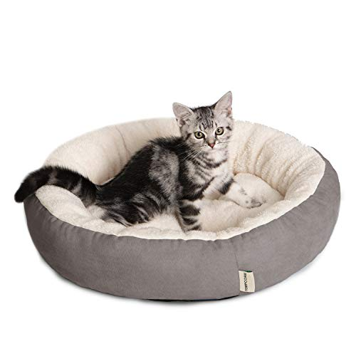 Tempcore Cat Bed for Indoor Cats Grey,20inch Pet Bed for Cats or Small Dogs,Anti-Slip & Water-Resistant Bottom