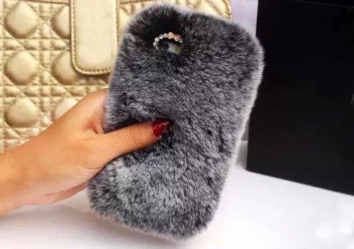new york 1e178 b7bc8 iPhone 6 plus Rabbit Fur Case,iPhone 6S plus Rabbit Fur Case,Max-BLV Hot  Soft Warm Rabbit Fur Hair Furry Luxury Bling Case Cover For iPhone 6 plus  5.5 ...