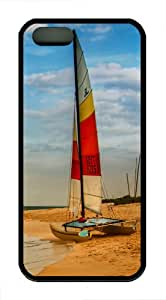 iPhone 5S Cases & Covers - Boat on oahu beach TPU Silicone iPhone 5S/5 Case Back Cover - Black