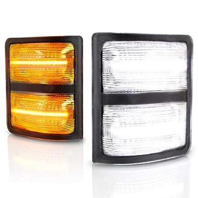 Yankok LED Side Mirror Light Assembly for [Ford F150 2013-2014] [Ford F250 F350 F450 F550 Super Duty V8 & V10 2008-2016] [Lincoln Mark LT 2013-2014] Pickup Truck Full LED White and Amber YKPL004: Automotive