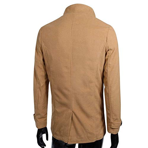 Adelina Pockets Outerwear Breasted Modern Sleeve Coat Jackets Coats Long Men's Coat Side Kamel Jacket Double Apparel Long PPSwqr