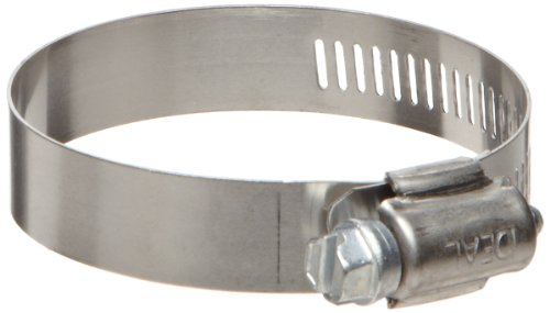 Ideal-Tridon Hy-Gear 50 Series Stainless Steel 201/301 Worm Gear Hose Clamp, General Purpose, 6 SAE Size, Fits 5/16 - 3/8